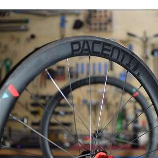 Pacenti 50mm Tubeless Carbon Clincher Wheelset USA, Chris King R45 Hubs (Clearance) Usual $2680