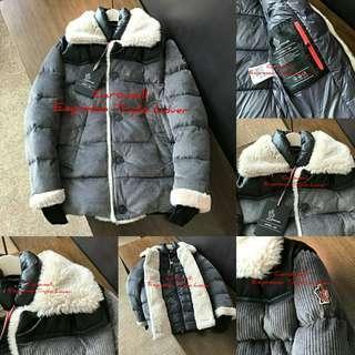 [M•O•N•C•L•E•R]Leather Coat + Lambswool for MenCODE:J125019