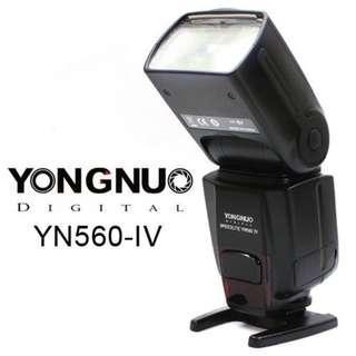 🚚 YONGNUO YN560 IV Wireless Flash Speedlite Master + Slave Flash + Built-in Trigger System for Canon Nikon Pentax Olympus Fujifilm Panasonic Digital Cameras