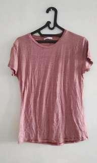 Zara red top stripes