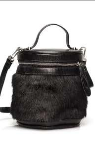 🚚 Faux Leather Black Crossbody Handbag