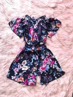 Flower Jumpsuit floral romper playsuit