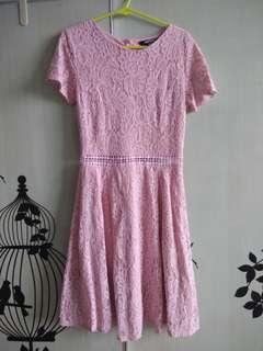 Super premium pink lace cut dress  brand another one size s