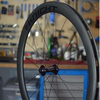 Knight Composites 50mm (Patented Technology) Carbon Tubeless Clincher with Chris King R45