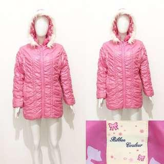 Ribbon couleur pink winter coat / jacket