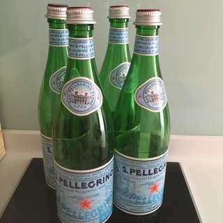 Empty San Pellegrino Glass Bottles-750ml size/With Label+Cap