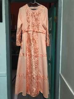 NEW Dress warna Orange (S, L, XL) TAKE ALL 500k