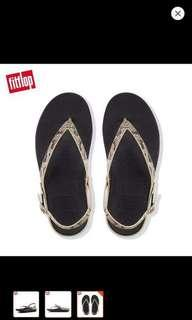 Fitflop Flip Leather Sandals Taupe Snake