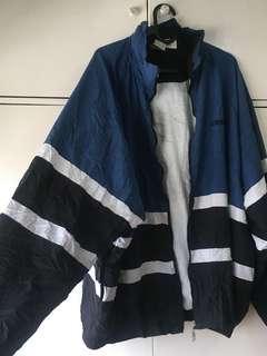 Black and Navy Blue Oversized Windbreaker