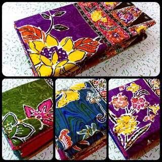 Ready-[Terlajak Syantik]- Kain Sarung Batik 💯 Cotton Serap Air Kain Tidak Licin