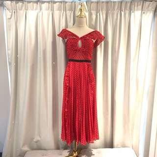 Authentic Self portrait Plumetis Chiffon Dress