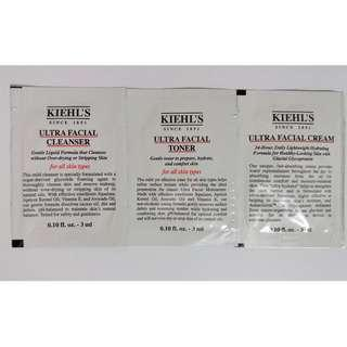 Kiehl's 特效保濕護理(潔面 + 爽膚 + 乳霜)套裝(包裝)