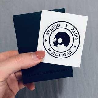 🚚 AES Team logo 防水潮牌貼紙🖤  行李箱貼紙 防水貼紙