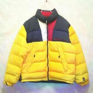 三件7折🎊 Tommy Hilfiger 羽絨外套 防寒外套 外套 夾克 黃 極稀有 老品 古著 復古 Vintage