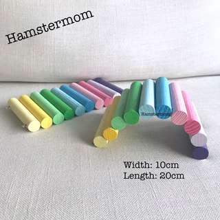 Pastel Rainbow Short Wooden Hamster Bendy Bridge