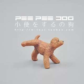 🌈貴婦狗扭蛋模型 #小便狗 #狗 #模型 #玩具 #扭蛋