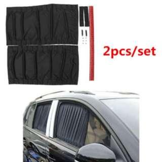 Car Window Curtain 70cm Large Mesh Premium 1 pair