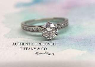 d19a9837c Authentic Tiffany & Co. 0.55ct Channel setting Diamond Platinum Ring 48%  off Retail