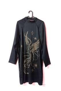 H&M ori black satin dress banting harga ! Cocok untuk Maternity Dress
