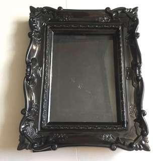 Urban Outfitters Black baroque style plastic photo frame