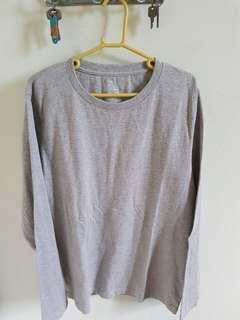 Muji grey long sleeve t shirt