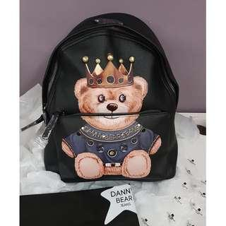 100% Auth Danny Bear Backpack - Blue/White (Size:BIG)