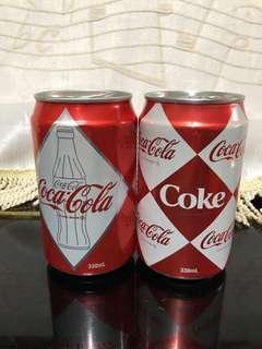 可口可樂 classic 罐,一套兩罐
