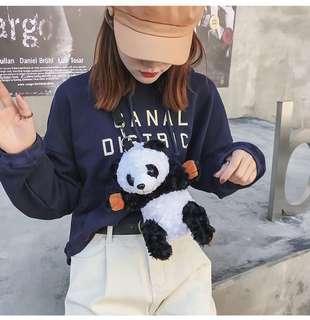 🌈熊貓手袋 #背包 #單肩包 #熊貓 #兒童 #少女 #公仔 #玩具 #hand bag #袋