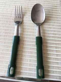 Melamine Handle forks and spoons