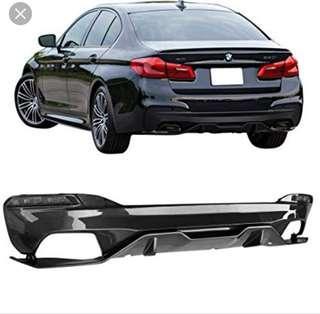 BMW G30 5 Series Rear Carbon Fiber Diffuser