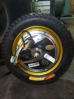 motor hub with tyre 10 inches