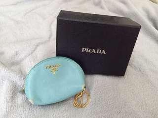 🚚 二手 專櫃正品 Prada零錢小包 全真皮 附原廠紙盒