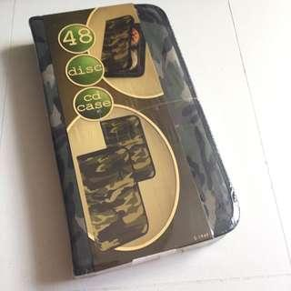 Camouflage camou green fabric CD case
