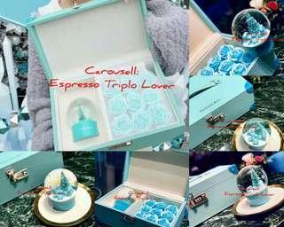 [T•I•F•F•A•N•Y*C•o]VIP Christmas Gift briefcase and preserve roses🌹 💼🎁🔮 ❄ 🌍