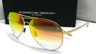 🚚 Authentic Porsche Design Sunglasses Aviator Style Orange Mirror Coat P8991S