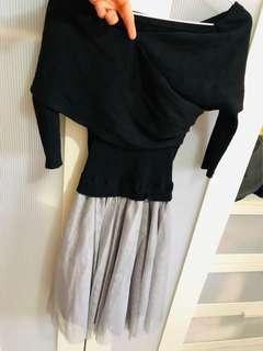 二手氣質5分袖紗裙洋裝