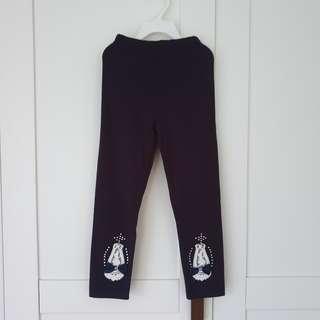 🚚 [Size 110 For Age 4-5 / Older] Girls' / Kids' / Children's Dark Blue Colour Cotton Leggings Tights