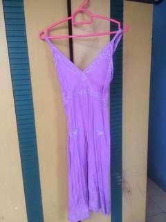 Mini Dress warna Lillac