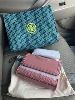 Brand new tory burch fleming small pink magnolia