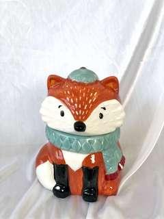 🚚 Fox Cookie Jar Earthenware Ceramic Fall Decor Scarf for Rent