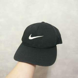 三件7折🎊 Nike 老帽 彎帽 鴨舌帽 黑 電繡logo 極稀有 老品 復古 古著 Vintage