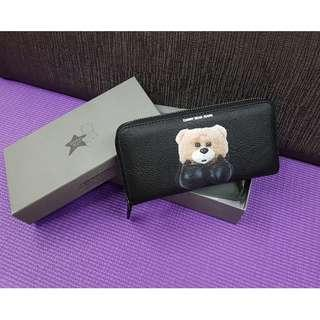 100% Auth Danny Bear zip around Wallet - small