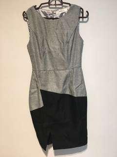 Grey Tweed Work dress