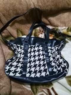 Houndstooth bag (medium sized)