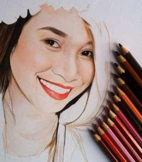 Gift coloured portrait in all occasions.