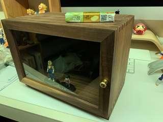 [日本手工制]頂級胡桃木 實木玻璃櫃 100%原木桌上展示櫃