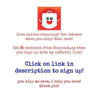 $5 Shopback Signup Bonus with Referral Link | Cashback with Online Shopping