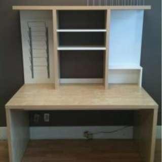 超平Ikea work desk/computer desk plus chair on sale電腦枱連背架+座椅平售