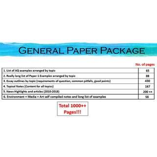 A Level General Paper GP Notes Package