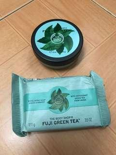 Fuji green tea body butter and soap